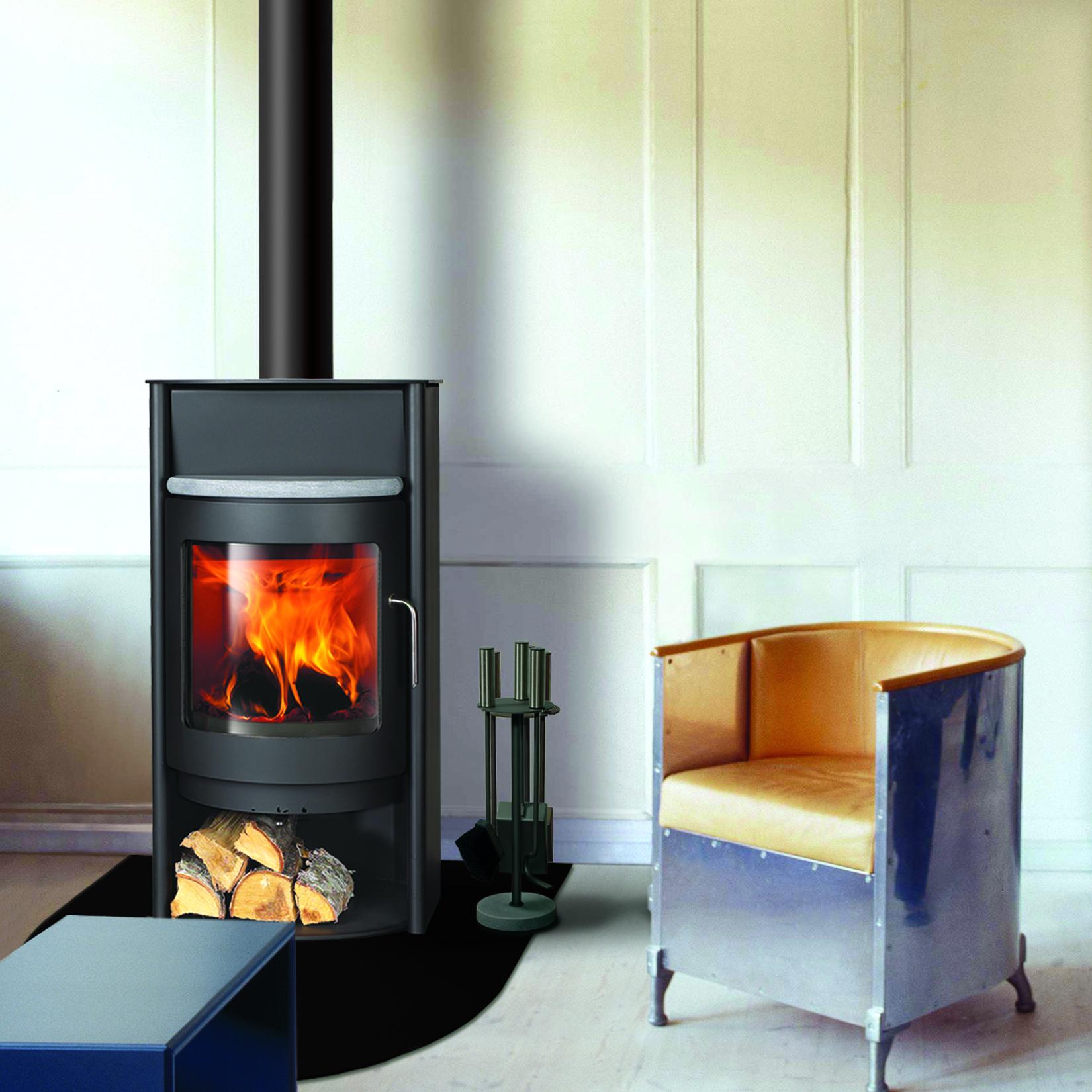 Outdoor Freestanding Wood Fireplace