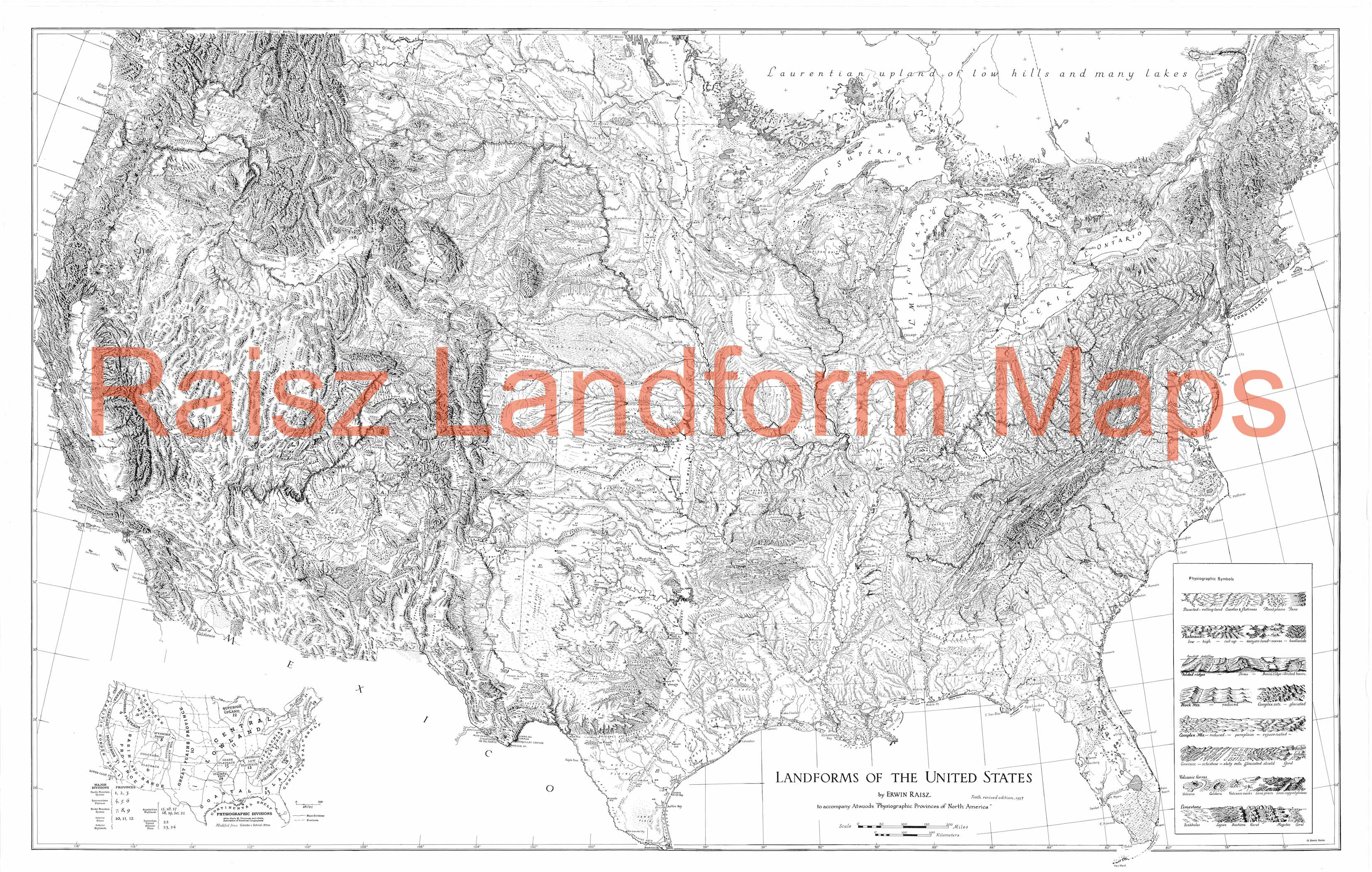 26 Landform Map Of The United States