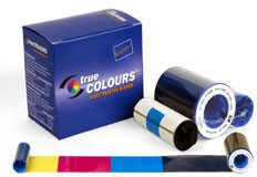 Zebra iSeries color ribbon 5 Panel YMCKO with 1 cleaning roller, 200 images for P3xx, P4xx, P5xx printers