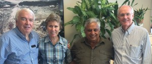 At BYU Jerusalem Center, from right to left, are David M. Whitchurch, Rajan Zed, Joyce Smith and Jeff Smith.