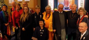 Some of the religious leaders & others who participated in this Service, from left to right, are: ElizaBeth Webb Beyer, James Kosko, Monique Jacobs, Brian E. Melendez, Kaitie R. Lighthart, Shelley L. Fisher, Rieko Shimbo, Rajan Zed, Abdul Raheem Barghouti, Jim R. Eaglesmith, Cathy Riordan and Matthew T. Fisher.