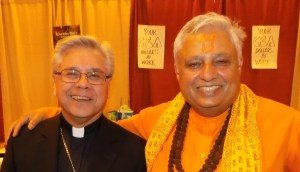 Rajan Zed (right) with Most Reverend Randolph R. Calvo, Bishop of Roman Catholic Diocese of Reno, at the Conference.
