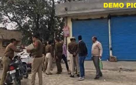 लॉक डाउन के दौरान जालोर में एक दुकान को किया सील