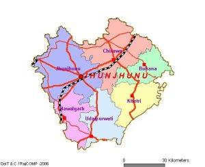 Jhunjhunu District Map