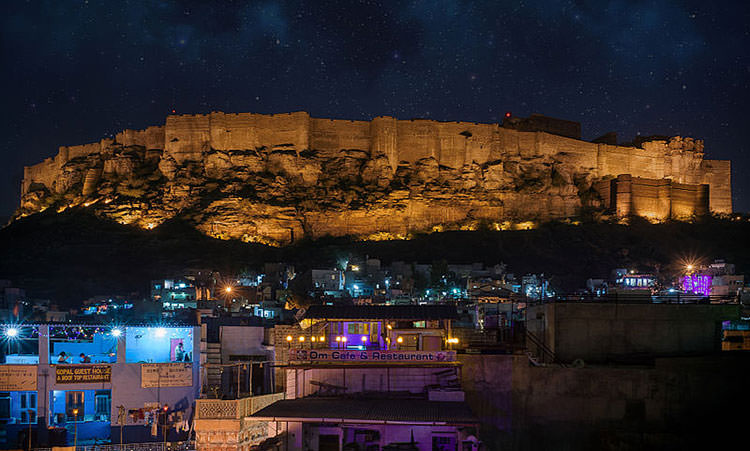 Night View of Mehrangarh Fort in Jodhpur