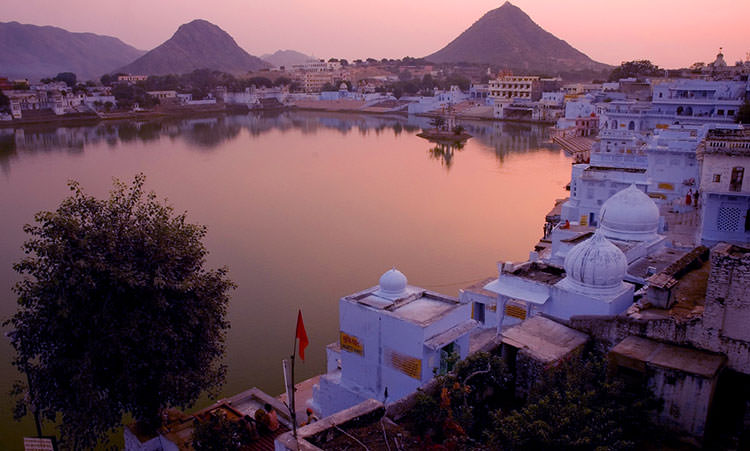 A view of  Pushkar Lake in Rajasthan