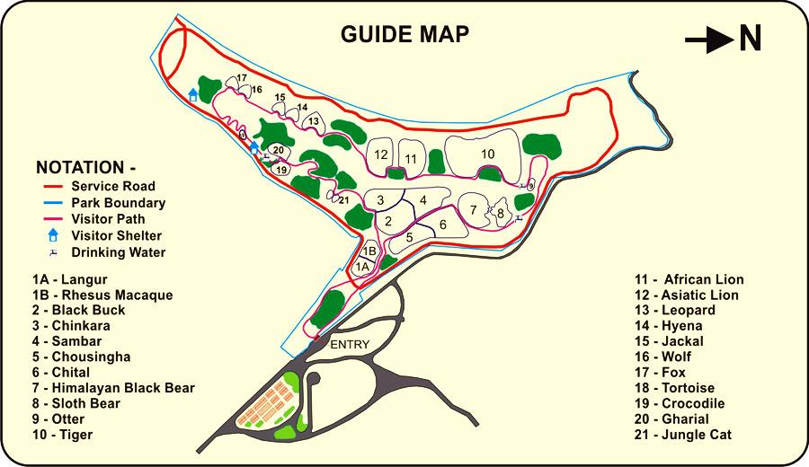 Sajjangarh Biological Park Guide Map