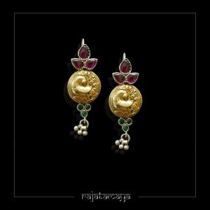 Dual Tone Kundan Hook earrings