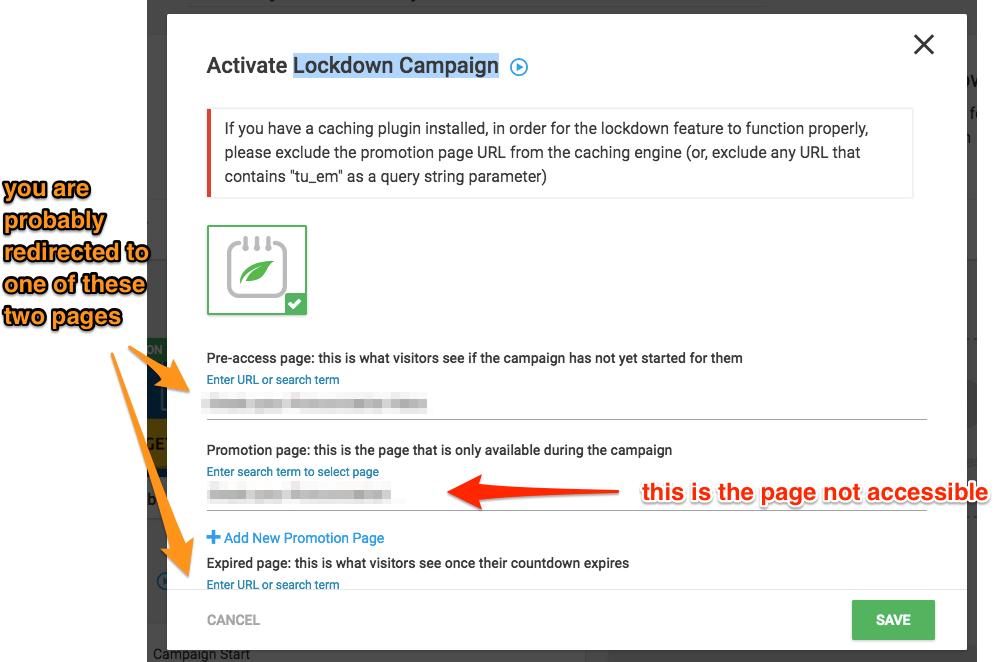 Thrive Ultimatum Lockdown Campaign screen