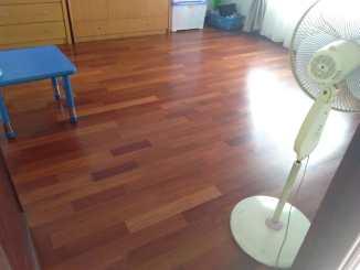pemasangan lantai kayu Merbau Rumah 5