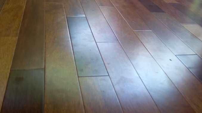 contoh terpasang lantai kayu merbua bepel