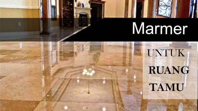 rekomendasi lantai untuk ruang tamu marmer