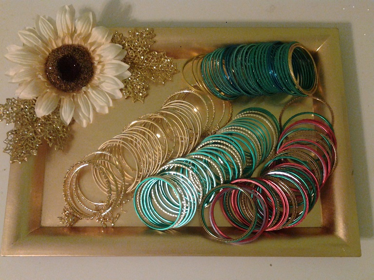 Decorated Tray For Bangles Raji Creations