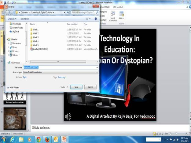 Converting Powerpoint To Video Step 2