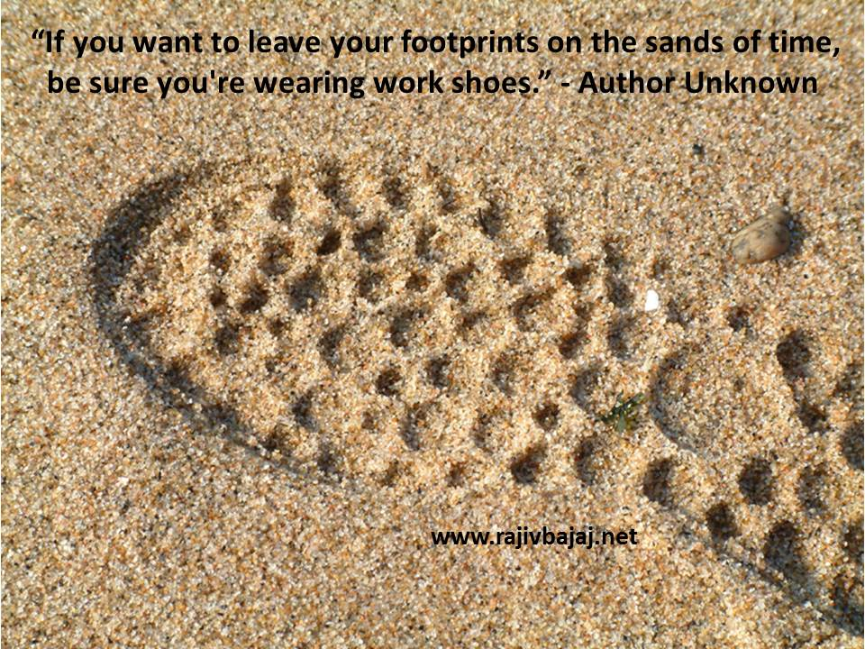 shoeprint in sand