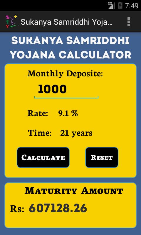download sukanya samriddhi account calculator in excel