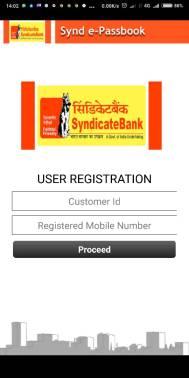 Synd e-passbook User Registration