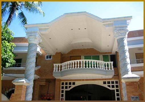rcc pillar decorated house