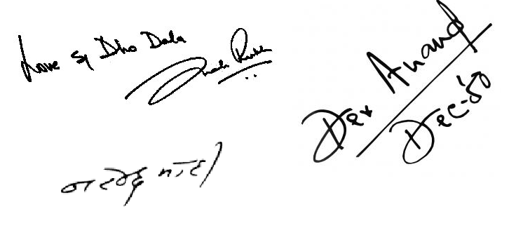 Autographs of 44 Famous Indian Personalities You May Have