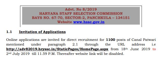 Haryana Patwari Recruitment