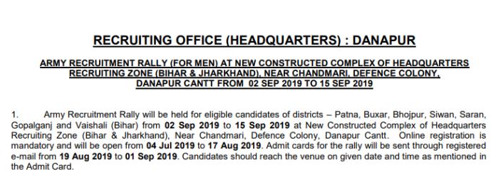 Army Rally Danapur