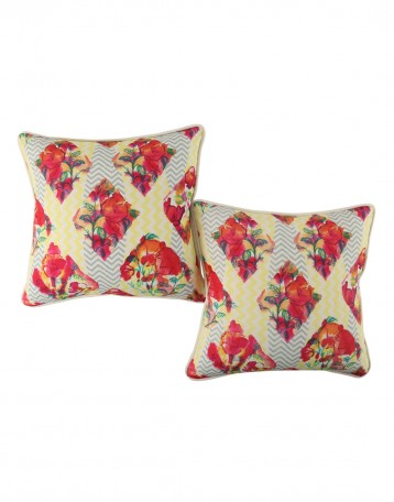 attractive red pillow shams