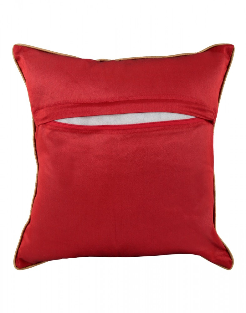Unique Pillow Cases Polyester Indian Designer Red Cushion