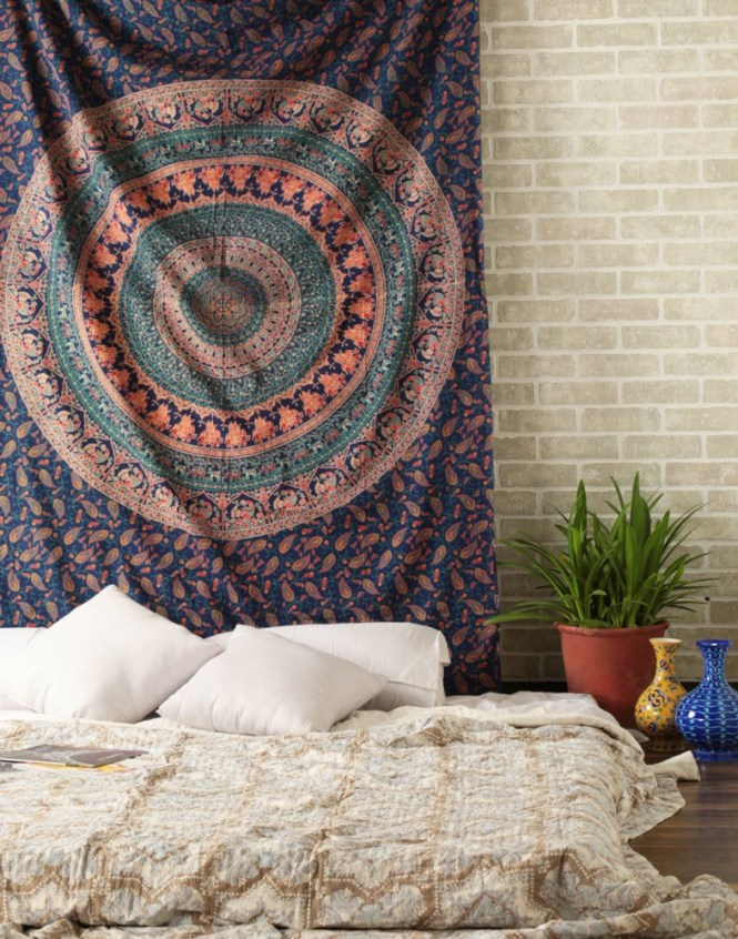 Hippie Tapestry Hippy Mandala Bohemian Tapestries Indian Dorm Decor Psychedelic Wall Hanging