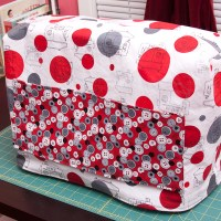 Cute as a button sewing machine cover