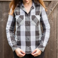 Gray Plaid Archer Button Up