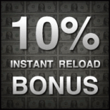 Carbon Poker 10% Instant Reload Bonus