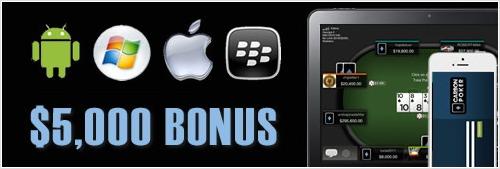 Carbon Poker Mobile Bonus