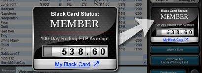 Full Tilt Black Card Widget
