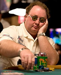 Team PokerStars Pro Greg Raymer, the Fossilman.