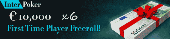 InterPoker €10K First Time Player Freeroll