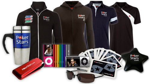 Merchandise in PokerStars VIP Store.