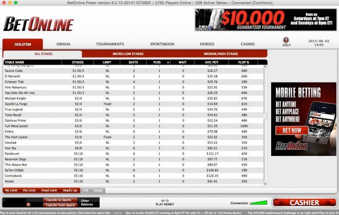betonline-poker-lobby-screenshot