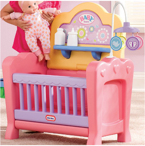 little tikes doll high chair covers hire wolverhampton 4-in-1 baby born nursery play set $25.75!! (reg $44.76)