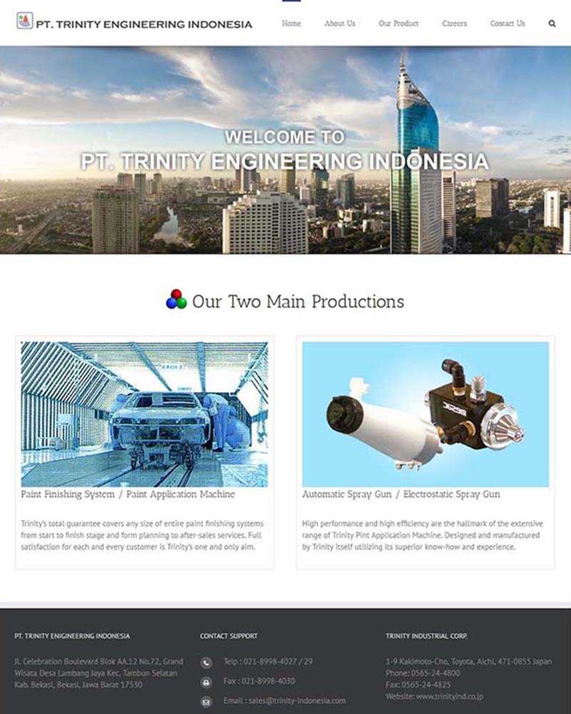 Jasa pembuatan website cikarang cibitung tambun pt trinity engineering indonesia