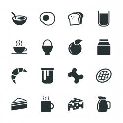 Breakfast Silhouette Icons