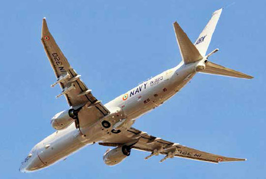 Indian Navy's P-8I Neptune armed with AGM-84 Harpoons
