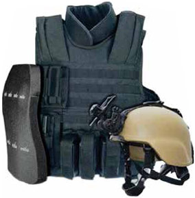 MKU Bullet Proof Jackets and Helmet