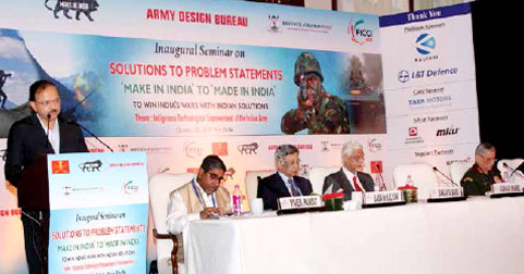 MoS Defence Dr Subhash Bhamre speaking at a seminar in New Delhi