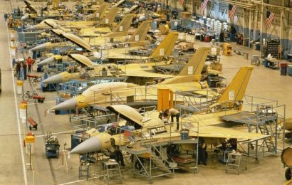 General Dynamics F-16 Falcon production line, Fort Worth, Texas