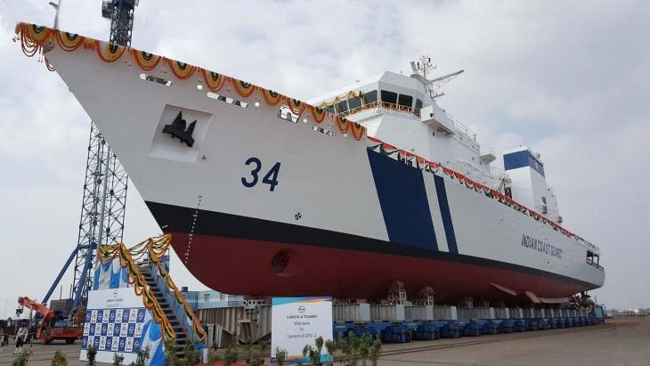 Offshore-Patrol-Vessel-OPV at-Kattupalli-near-Chennai.