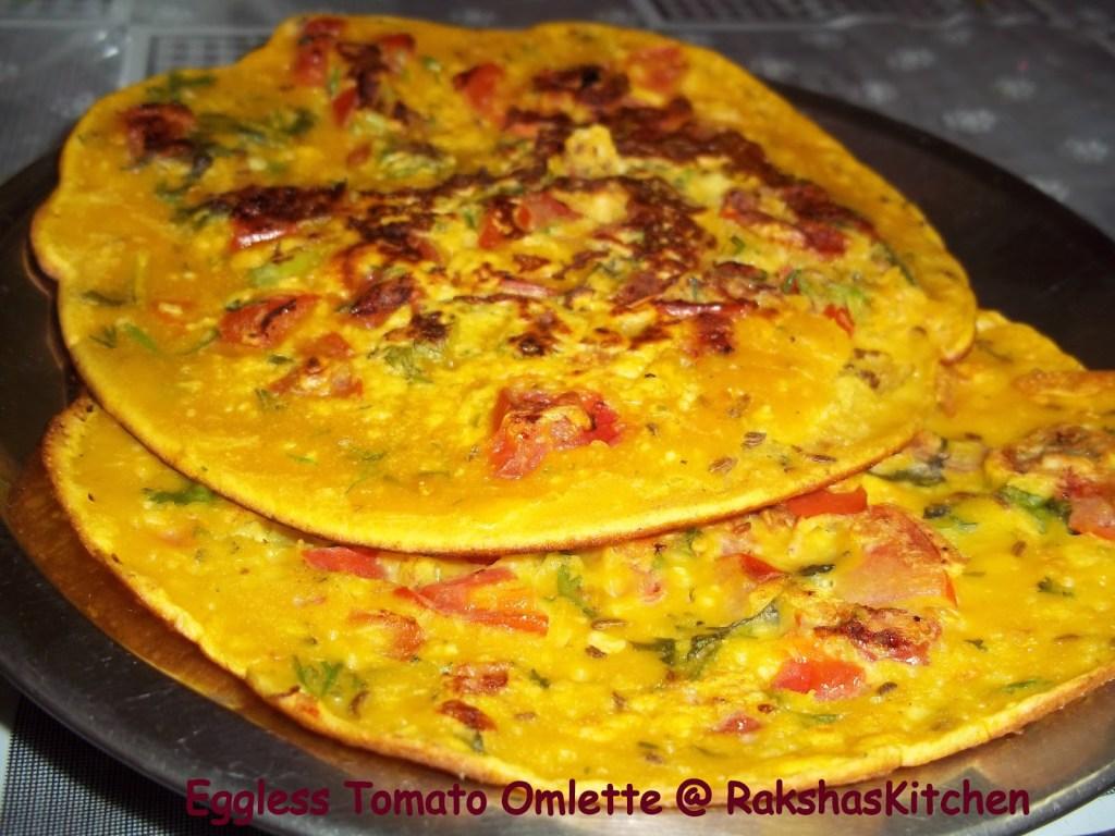 Eggless Tomato Omelette