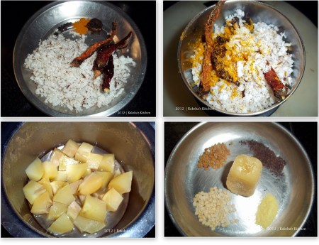 Goan raw mango curry ingredients picture