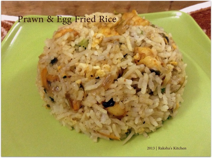 Prawns and egg fried rice