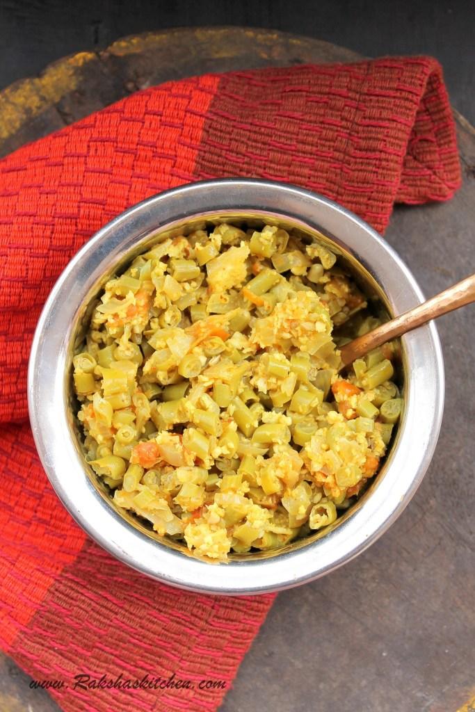 Cowpea Beans Subzi / Valachi Bhaji