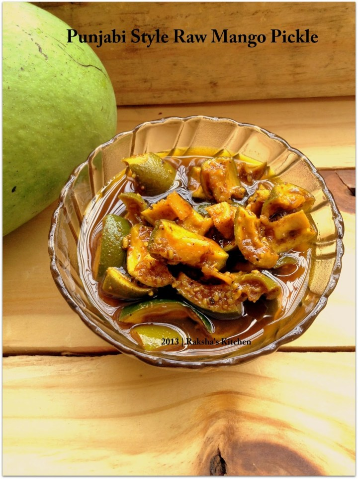 Punjabi Style Raw Mango Pickle